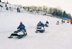 Snowmobiling at its best.
